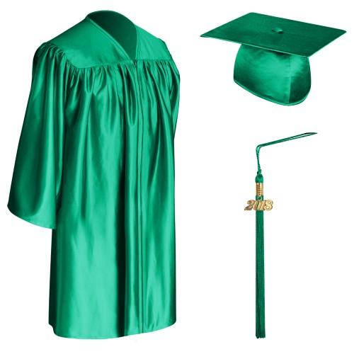 Emerald Green Child Graduation Cap Gown Tassel