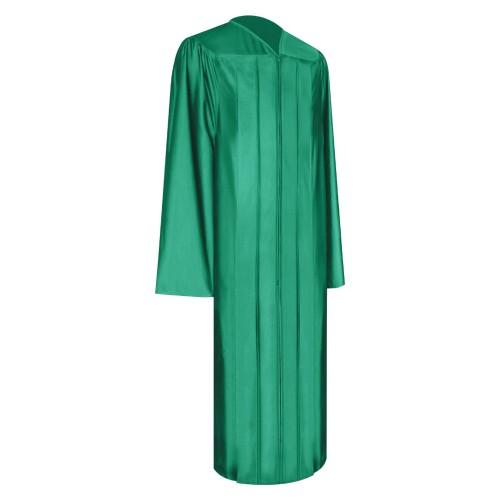 Shiny Emerald Green High School Graduation Gown