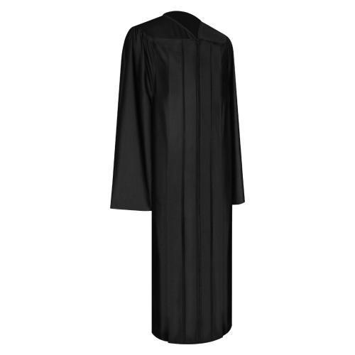 Shiny Black High School Graduation Gown