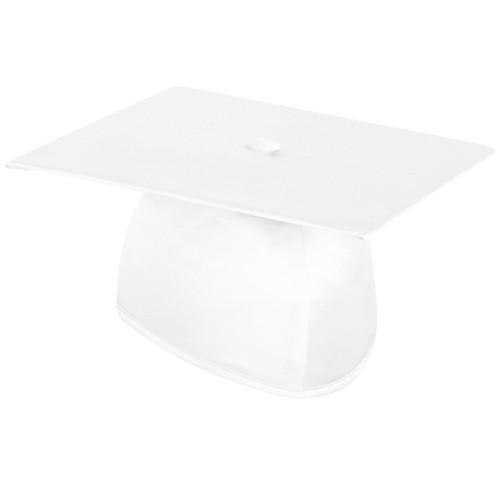 Shiny White Graduation Cap