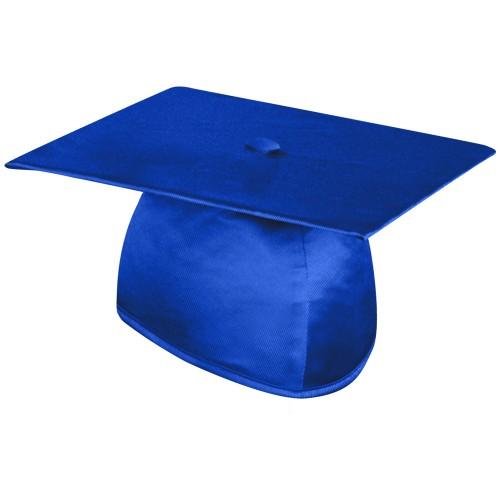Shiny Royal Blue Graduation Cap
