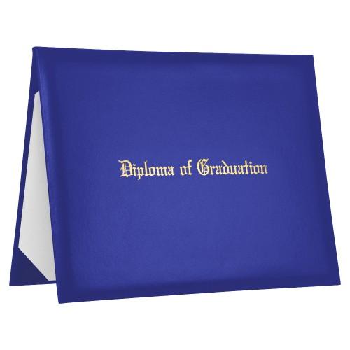 Royal Blue Imprinted Diploma of Graduation Cover