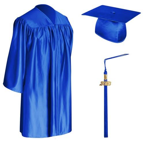 Royal Blue Child Graduation Cap Gown Tassel Cap Gown Tassel