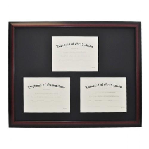 Triple Document Diploma Frame