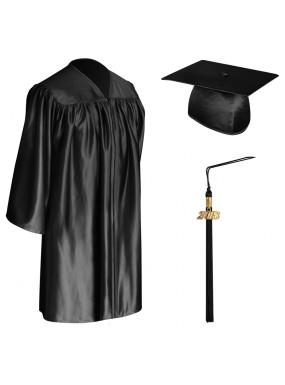 Black Child Graduation Cap, Gown & Tassel