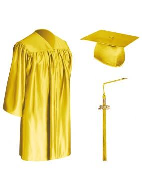 Gold Child Graduation Cap, Gown & Tassel