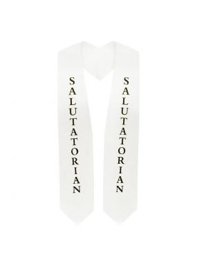 White Salutatorian Graduation Stole