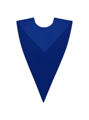 Royal Blue Graduation V Stole