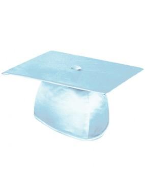 Shiny Light Blue Graduation Cap