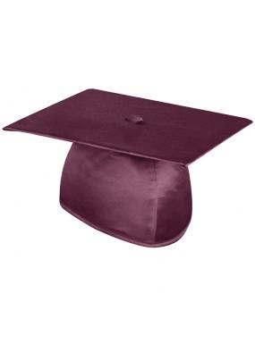 Shiny Maroon Graduation Cap