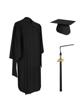 Deluxe Master Graduation Cap, Gown & Tassel