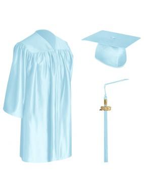 Light Blue Child Graduation Cap, Gown & Tassel
