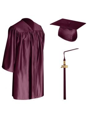 Maroon Child Graduation Cap, Gown & Tassel