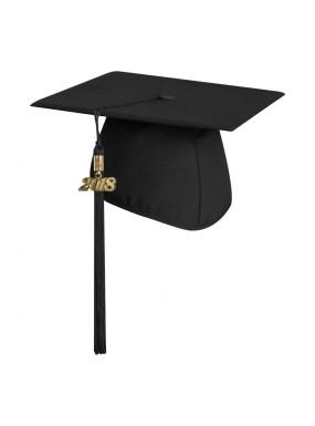 Matte Black Middle School and Junior High Graduation Cap with Tassel