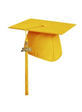 Matte Gold Elementary Graduation Cap with Tassel