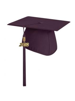 Matte Maroon Elementary Graduation Cap with Tassel