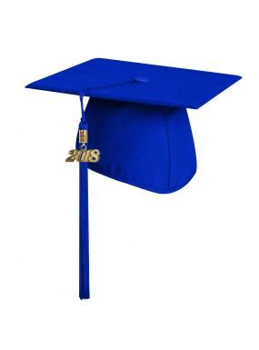 Matte Royal Blue Elementary Graduation Cap with Tassel