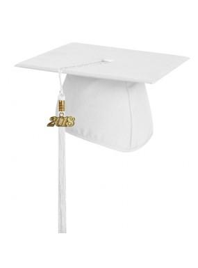Matte White Elementary Graduation Cap with Tassel