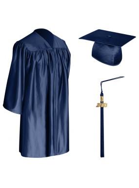 Navy Blue Child Graduation Cap, Gown & Tassel