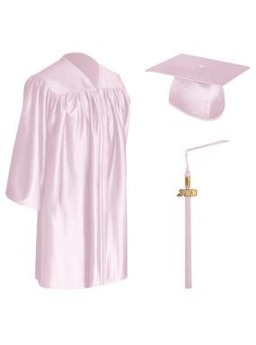 Pink Child Graduation Cap, Gown & Tassel