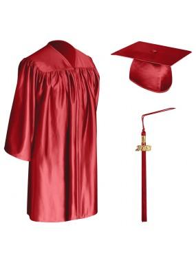 Red Child Graduation Cap, Gown & Tassel