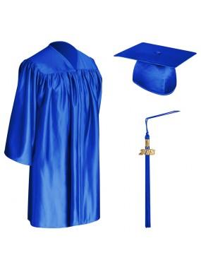 Royal Blue Child Graduation Cap, Gown & Tassel