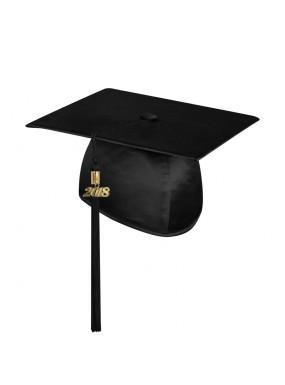 Shiny Black Elementary Graduation Cap with Tassel