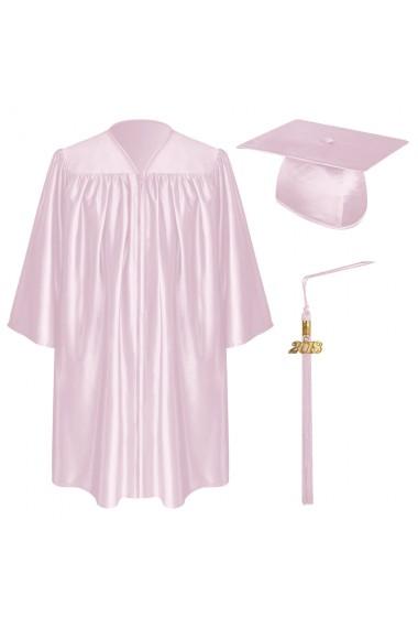 Pink Child Graduation Cap Gown Tassel