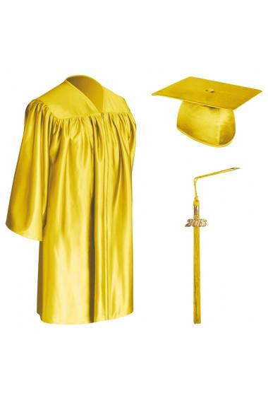 Gold Child Graduation Cap Gown Tassel