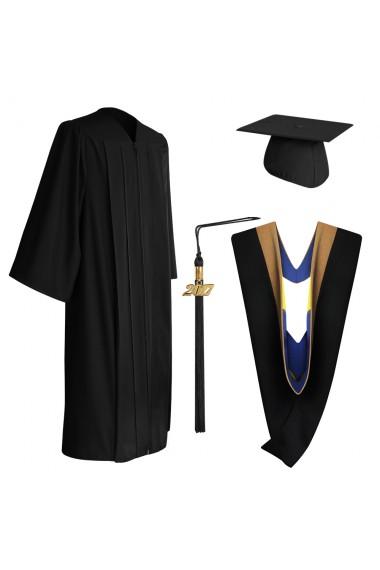 Eco Friendly Bachelors Graduation Gown Hood Cap Set
