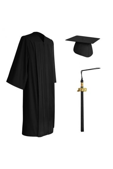 Graduation Cap and Gown Set Matte White